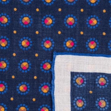 Einstecktuch in Blau  aus reinem Kaschmir