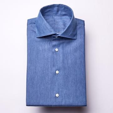 Hemd - Denim - dunkelblau - einfarbig