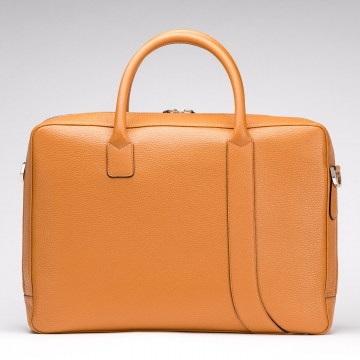 Asymetric Briefcase - Light Brown