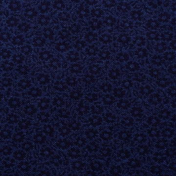 Hemd - Flanell - dunkelblau - Blumenmuster