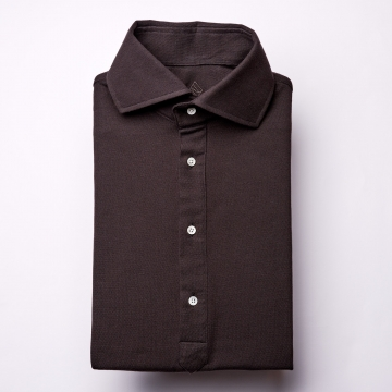Polo Shirt - dark brown