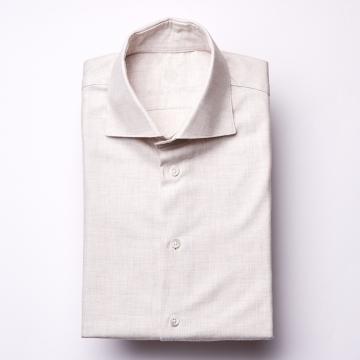 Hemd - Flanell - beige - einfarbig
