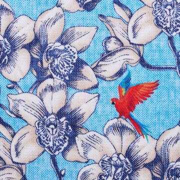 Hemd - Panamino - hellblau - bedruckt - Blumenmuster