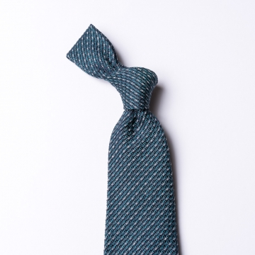 Woven green-blue tie
