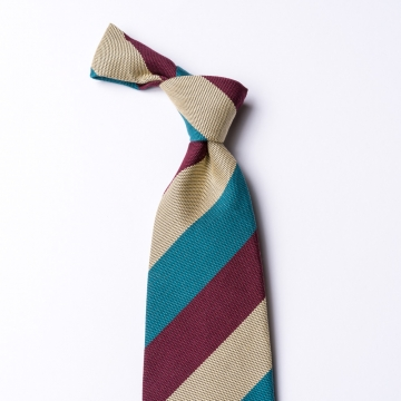 Striped tie  made of cotton and silk