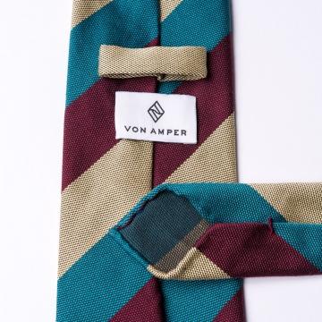 Gestreifte Krawatte  aus Baumwolle und Seide